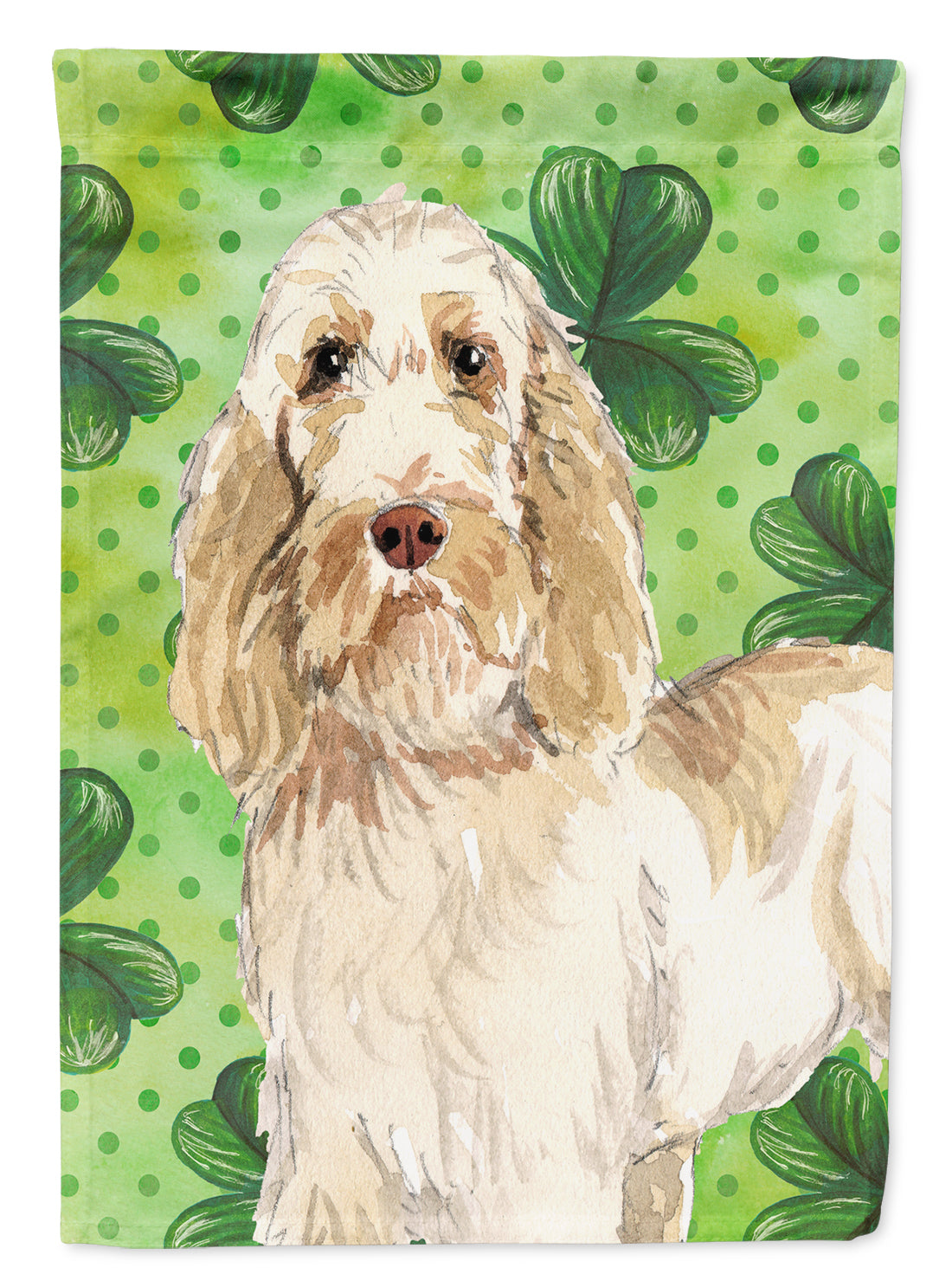 Buy this Shamrocks Spinone Italiano Flag Canvas House Size CK1786CHF