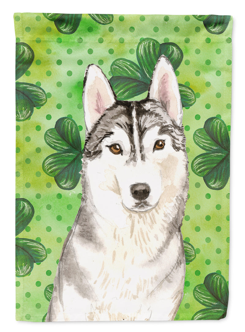 Buy this Shamrocks Siberian Husky Flag Canvas House Size CK1787CHF
