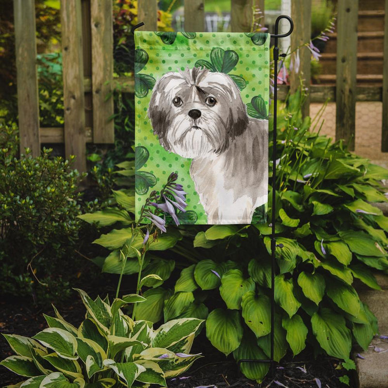 Buy this Shamrocks Shih Tzu Puppy Flag Garden Size CK1788GF