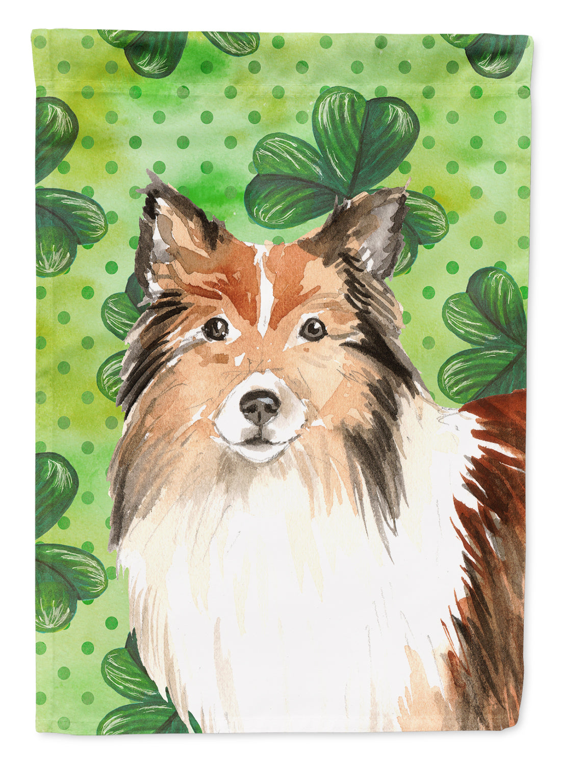 Buy this Shamrocks Sheltie Flag Canvas House Size CK1790CHF