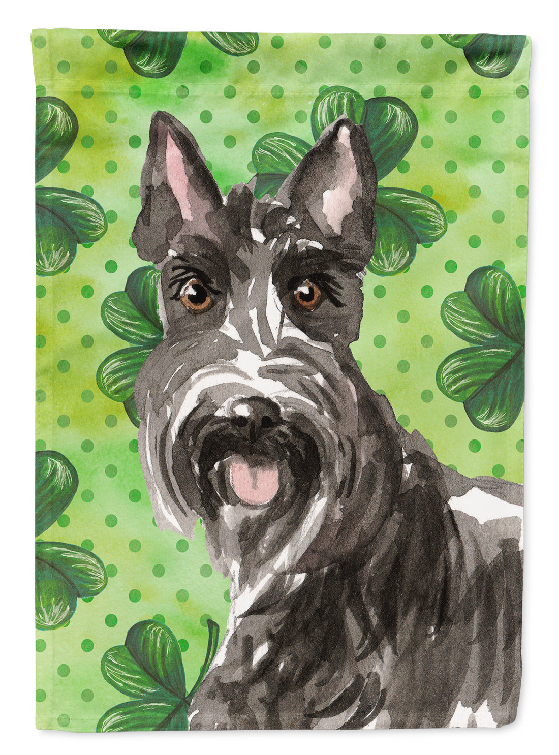 Buy this Shamrocks Scottish Terrier Flag Canvas House Size CK1791CHF