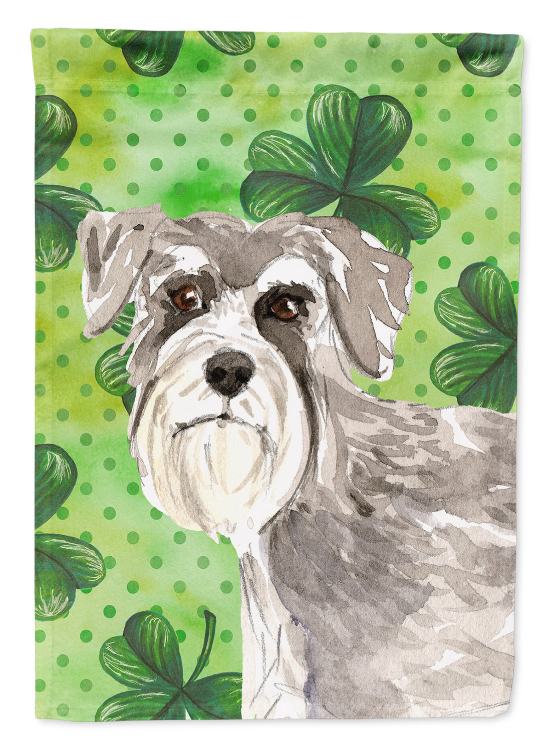 Buy this Shamrocks Schnauzer #1 Flag Canvas House Size CK1792CHF