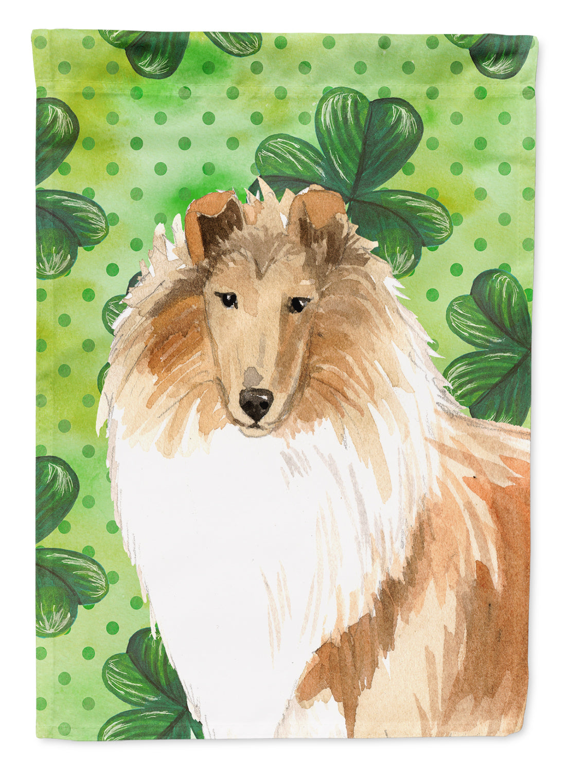 Buy this Shamrocks Smooth Collie Flag Canvas House Size CK1793CHF