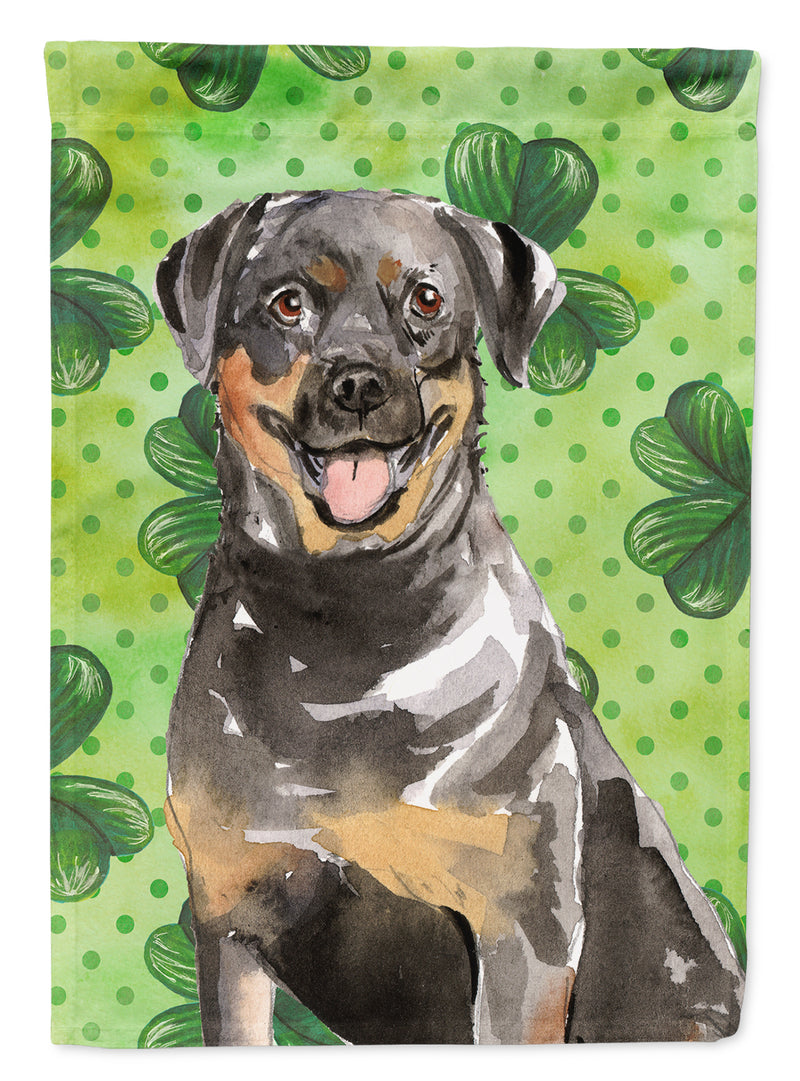 Buy this Shamrocks Rottweiler Flag Canvas House Size CK1794CHF