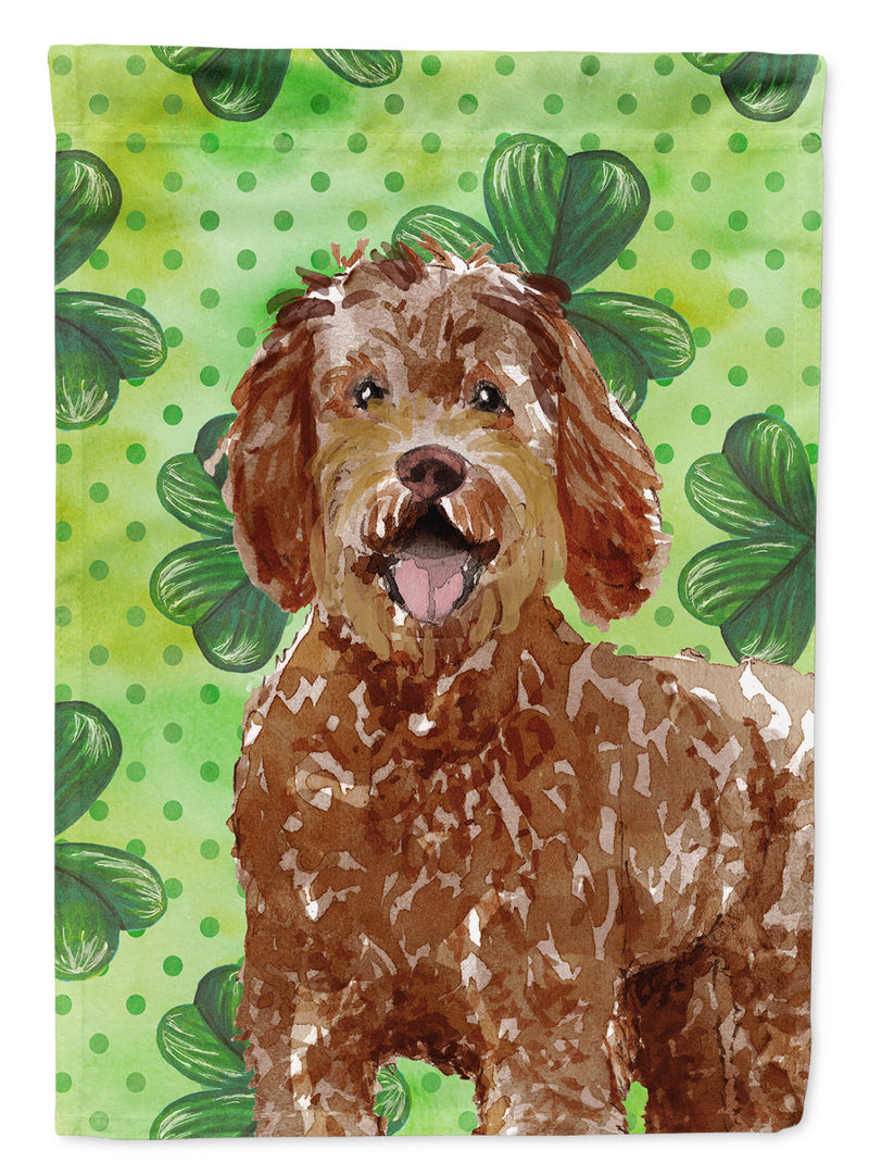 Buy this Shamrocks Labradoodle Flag Canvas House Size CK1800CHF
