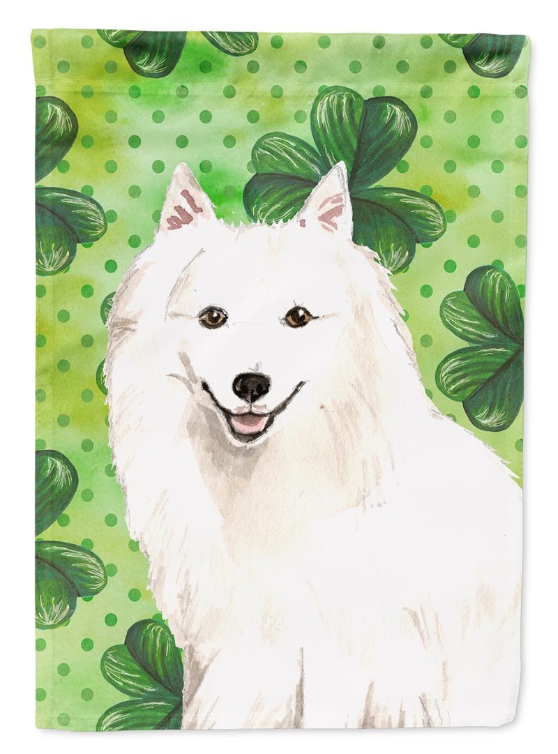Buy this Shamrocks Japanese Spitz Flag Canvas House Size CK1801CHF