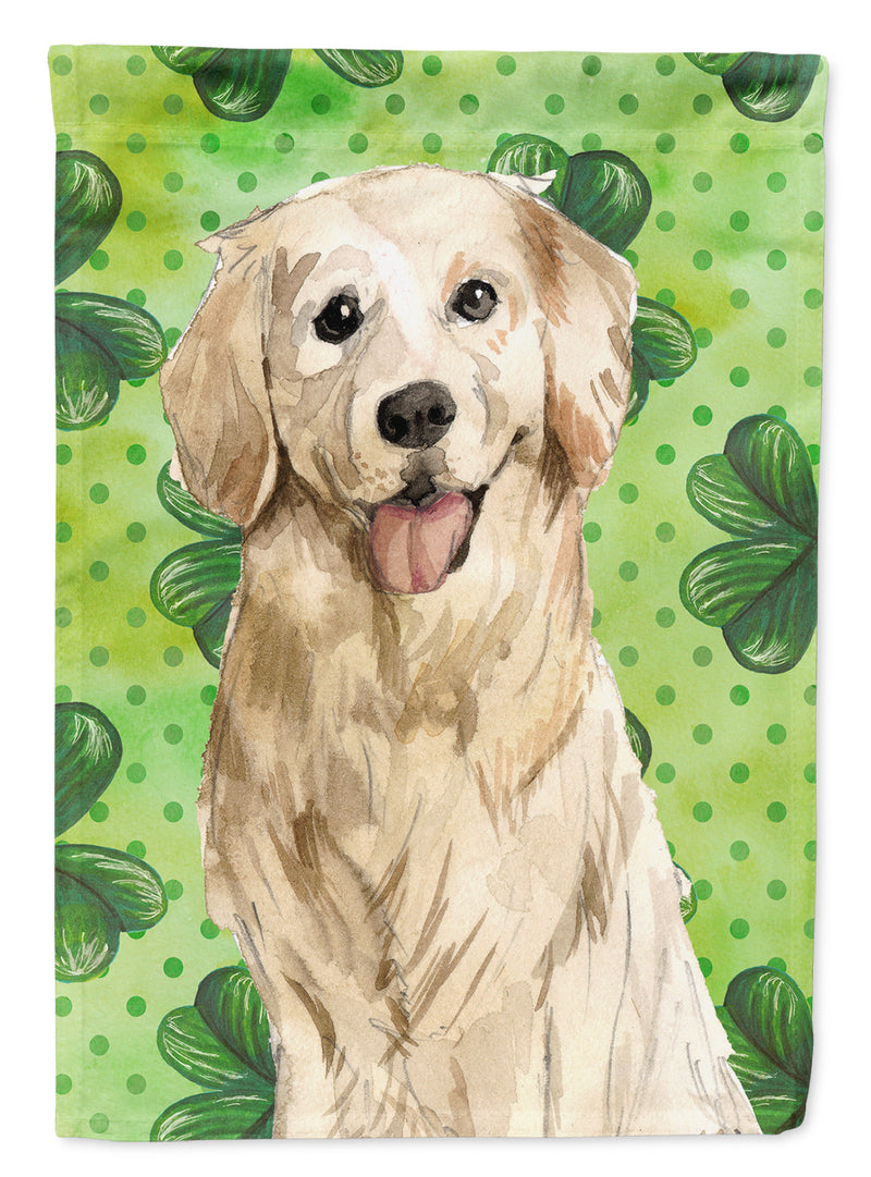 Buy this Shamrocks Golden Retriever Flag Canvas House Size CK1804CHF