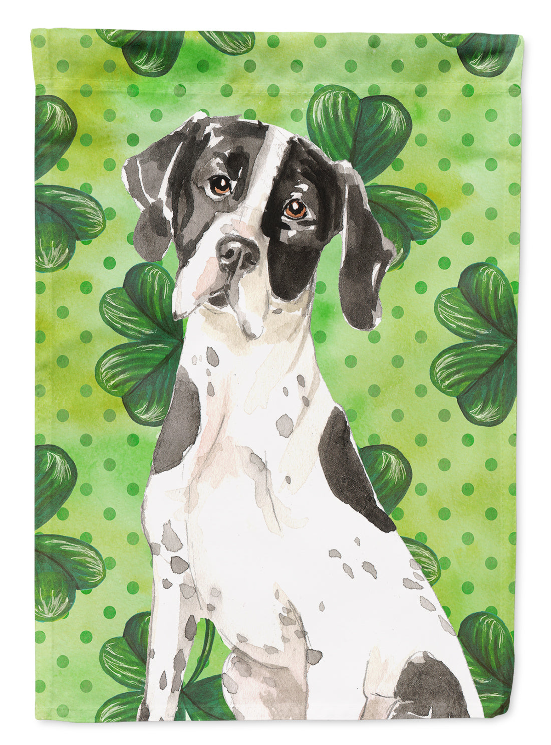 Buy this Shamrocks English Pointer Flag Canvas House Size CK1806CHF
