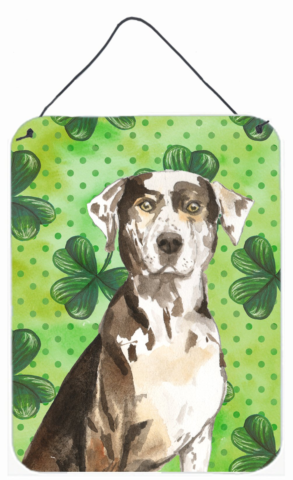 Buy this Shamrocks Catahoula Leopard Dog Wall or Door Hanging Prints CK1808DS1216