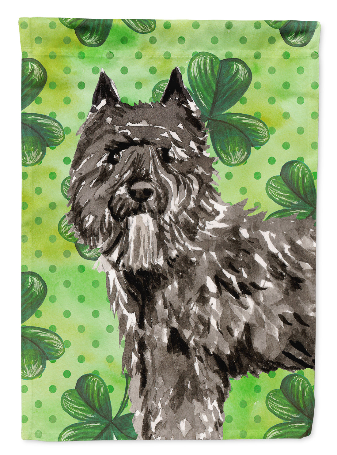 Buy this Shamrocks Bouvier des Flandres Flag Canvas House Size CK1811CHF