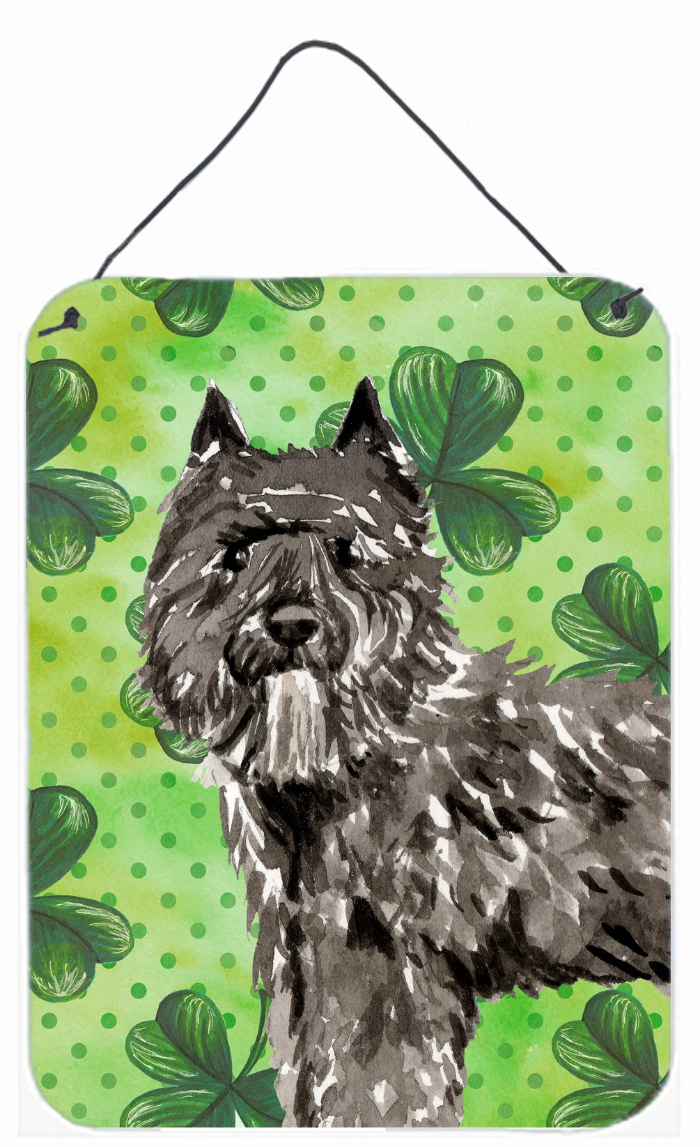 Buy this Shamrocks Bouvier des Flandres Wall or Door Hanging Prints CK1811DS1216