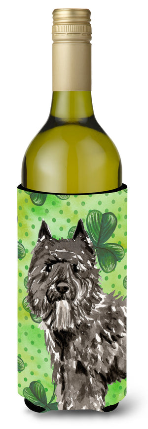 Buy this Shamrocks Bouvier des Flandres Wine Bottle Beverge Insulator Hugger CK1811LITERK