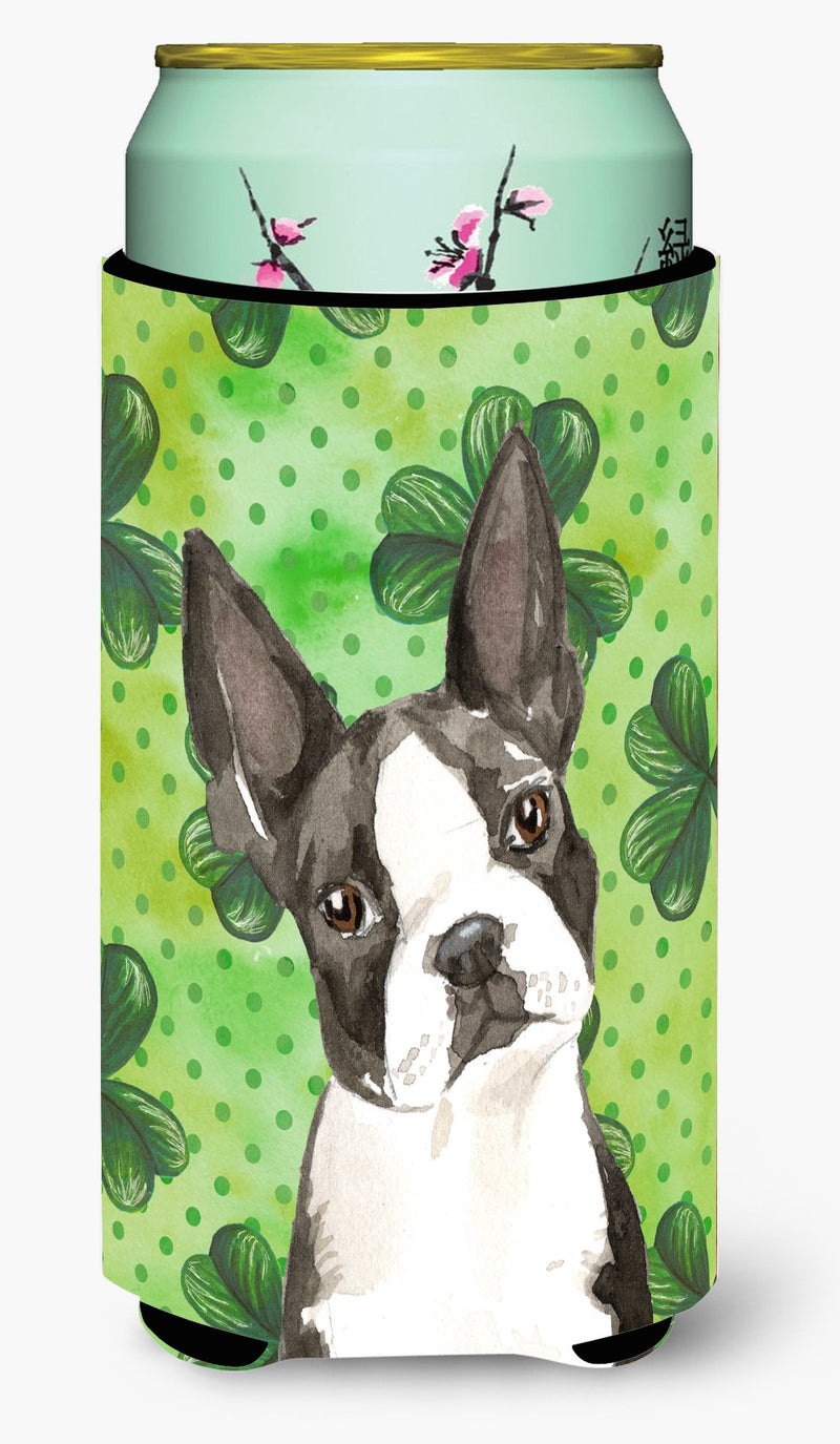 Buy this Shamrocks Boston Terrier Tall Boy Beverage Insulator Hugger CK1812TBC