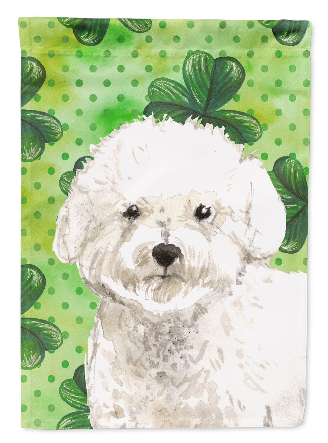 Buy this Shamrocks Bichon Frise Flag Canvas House Size CK1814CHF