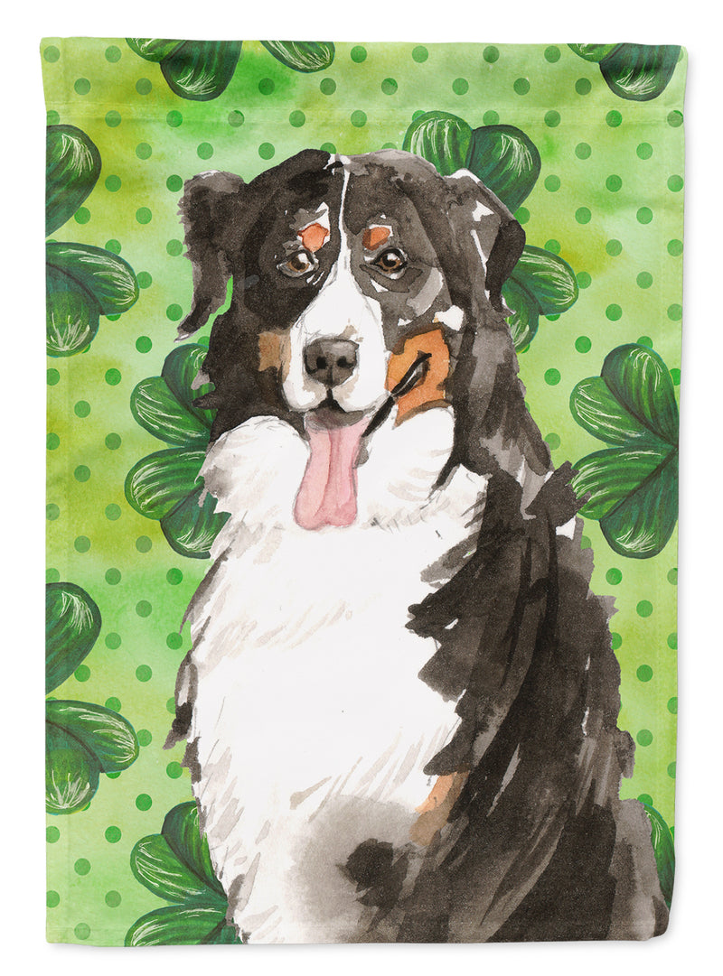 Buy this Shamrocks Bernese Mountain Dog Flag Canvas House Size CK1815CHF