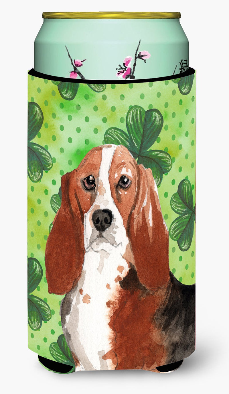 Buy this Shamrocks Basset Hound Tall Boy Beverage Insulator Hugger CK1816TBC