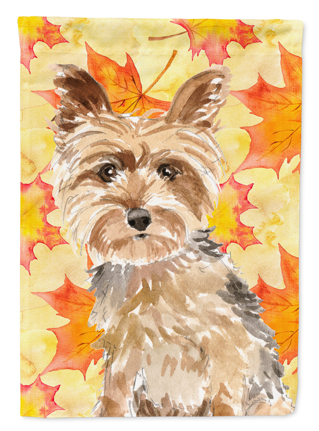 Buy This Fall Leaves Yorkie Yorkshire Terrier Flag Garden Size CK1817GF