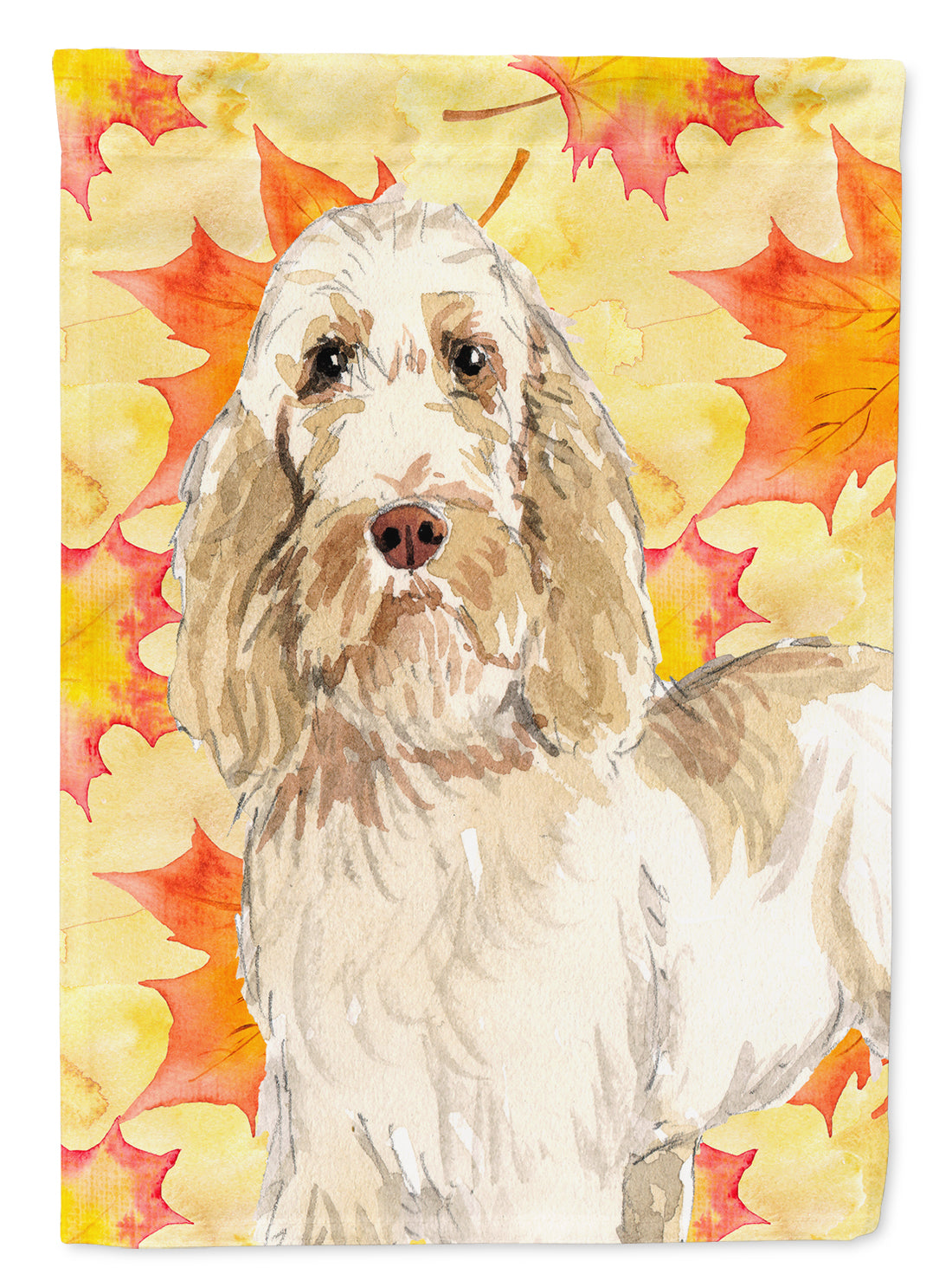 Fall Leaves Spinone Italiano Flag Canvas House Size CK1823CHF by Caroline's Treasures