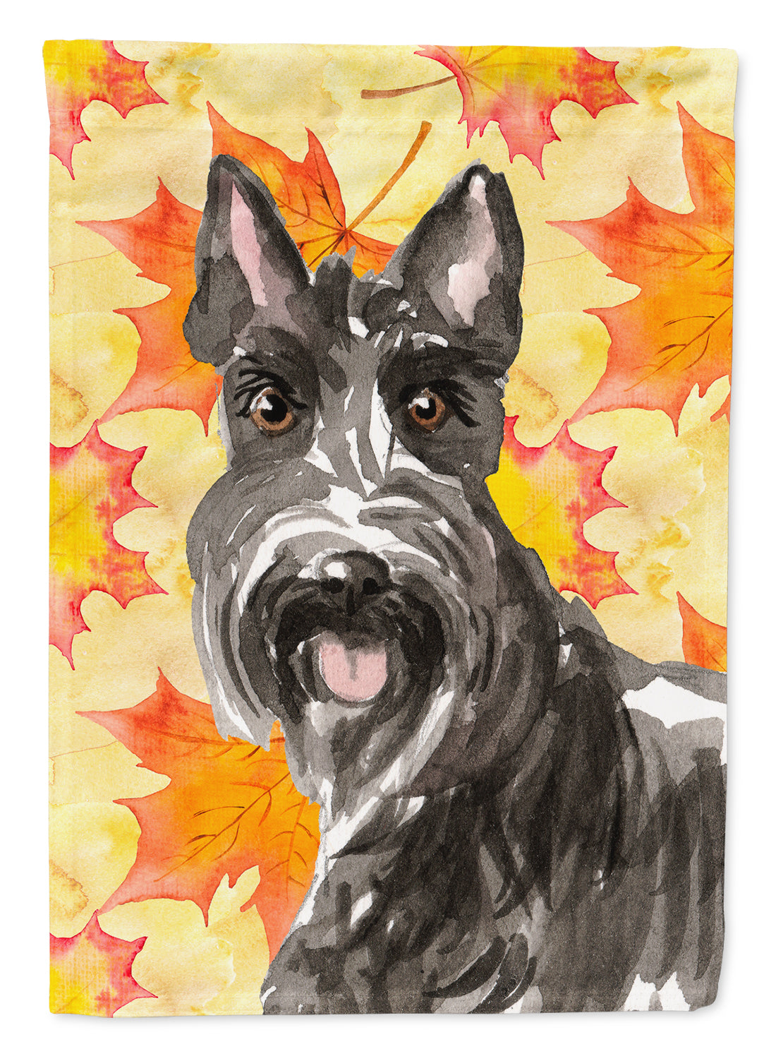 Fall Leaves Scottish Terrier Flag Canvas House Size CK1828CHF by Caroline's Treasures