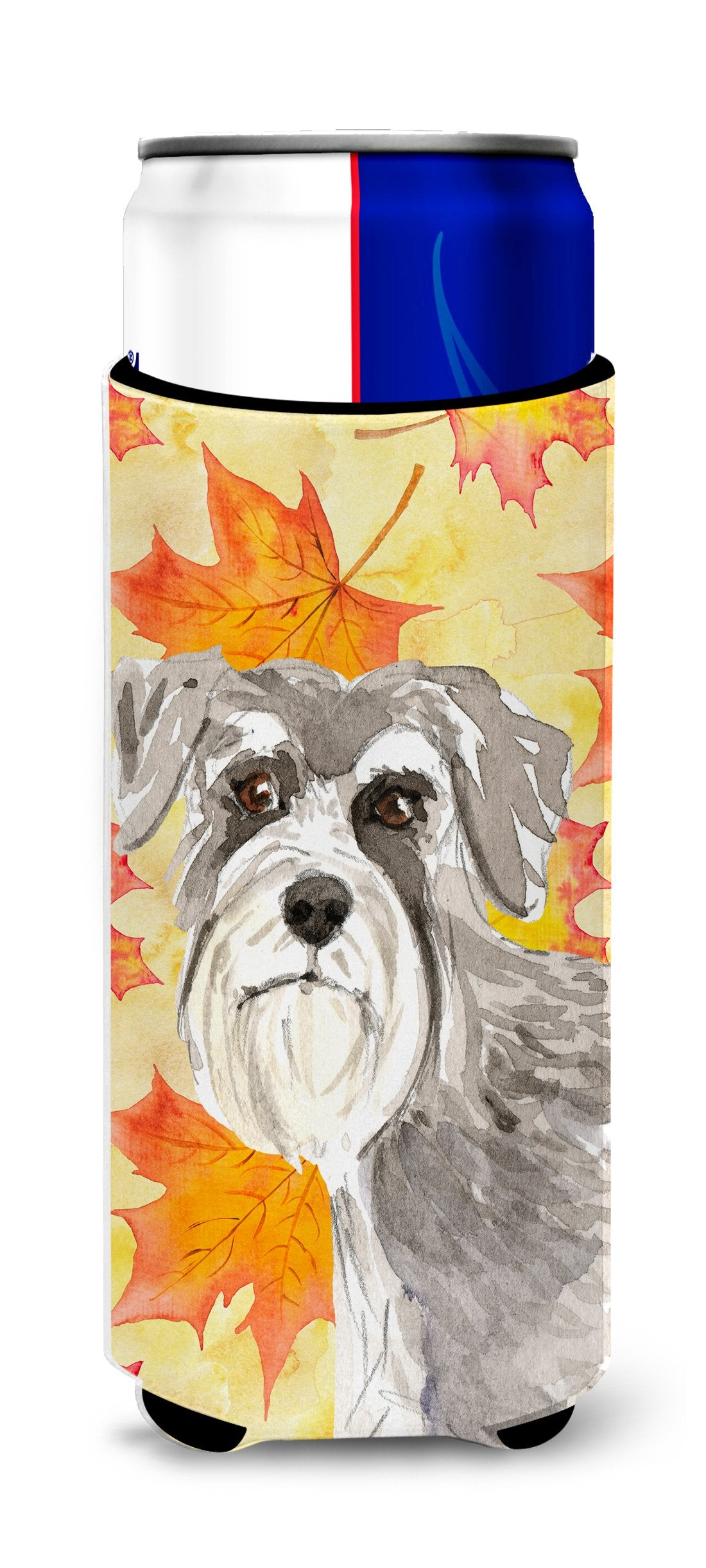 Fall Leaves Schnauzer #1 Michelob Ultra Hugger for slim cans CK1829MUK by Caroline's Treasures