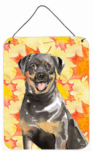 Buy this Fall Leaves Rottweiler Wall or Door Hanging Prints CK1831DS1216
