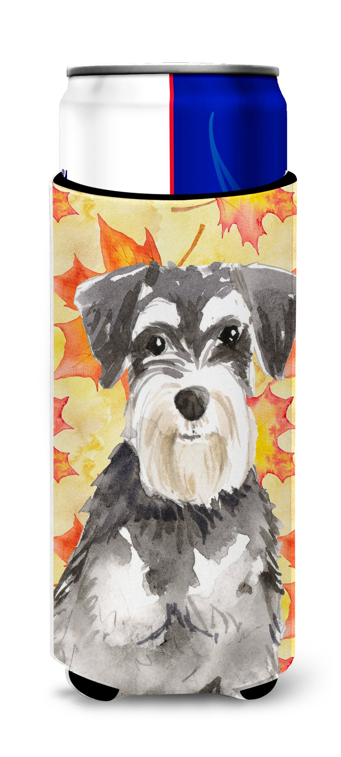 Fall Leaves Schnauzer #2 Michelob Ultra Hugger for slim cans CK1833MUK by Caroline's Treasures