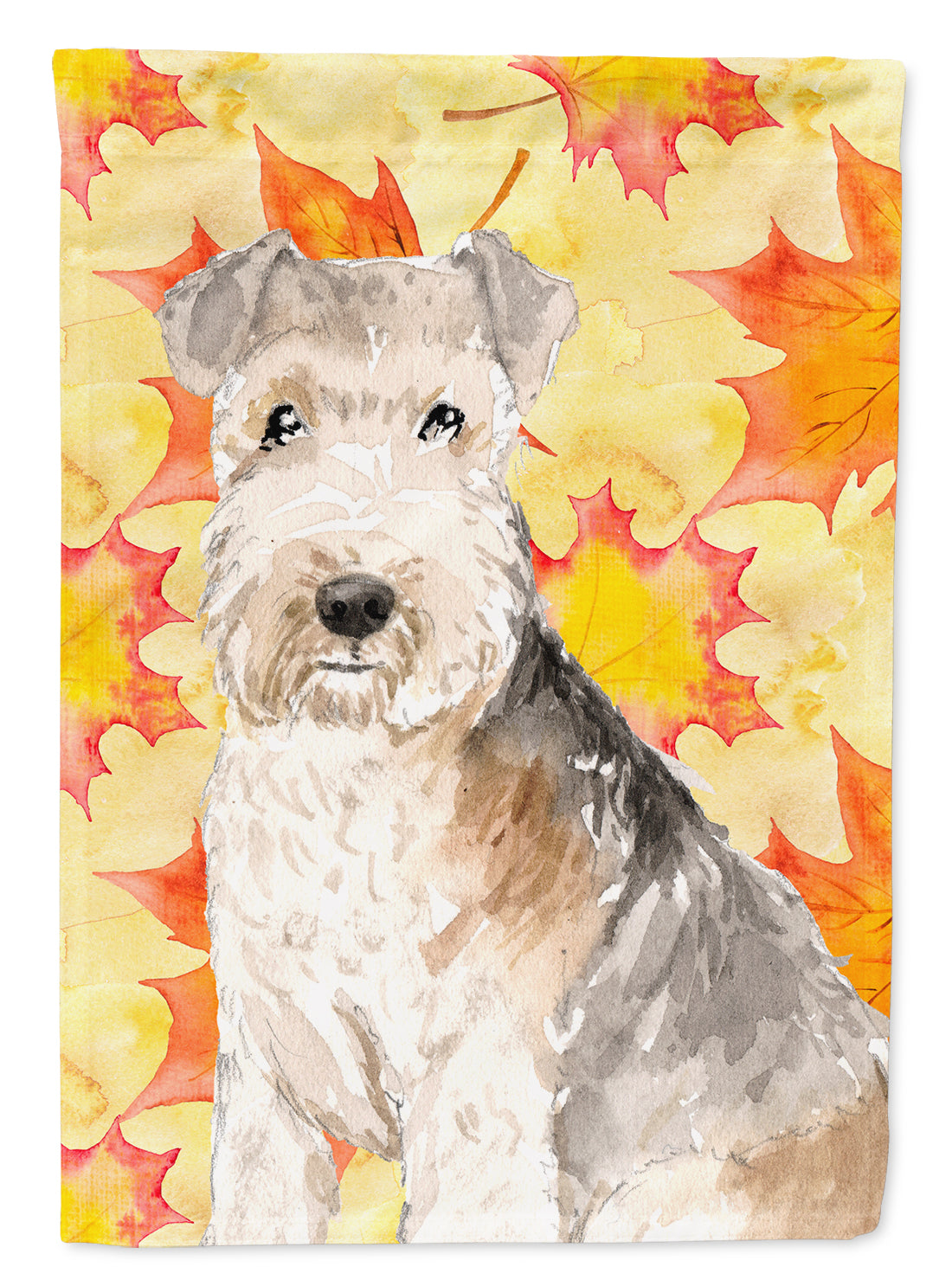 Fall Leaves Lakeland Terrier Flag Canvas House Size CK1836CHF by Caroline's Treasures