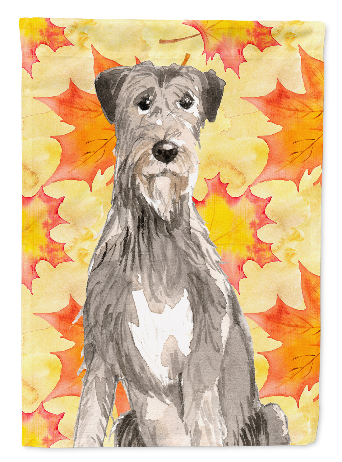 Fall Leaves Irish Wolfhound Flag Canvas House Size CK1839CHF by Caroline's Treasures