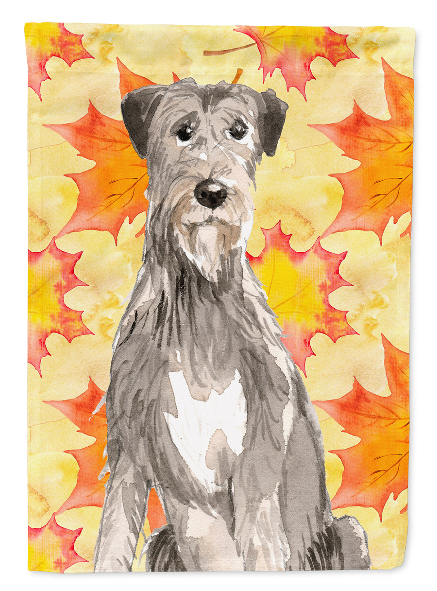 Buy this Fall Leaves Irish Wolfhound Flag Canvas House Size CK1839CHF