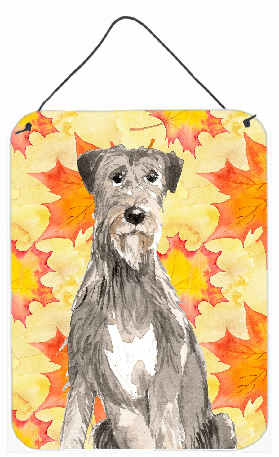 Buy this Fall Leaves Irish Wolfhound Wall or Door Hanging Prints CK1839DS1216