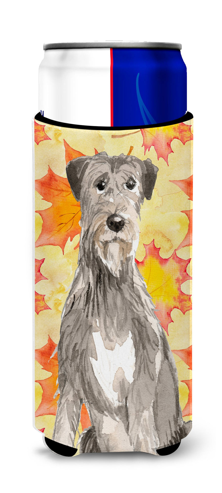 Buy this Fall Leaves Irish Wolfhound Michelob Ultra Hugger for slim cans CK1839MUK