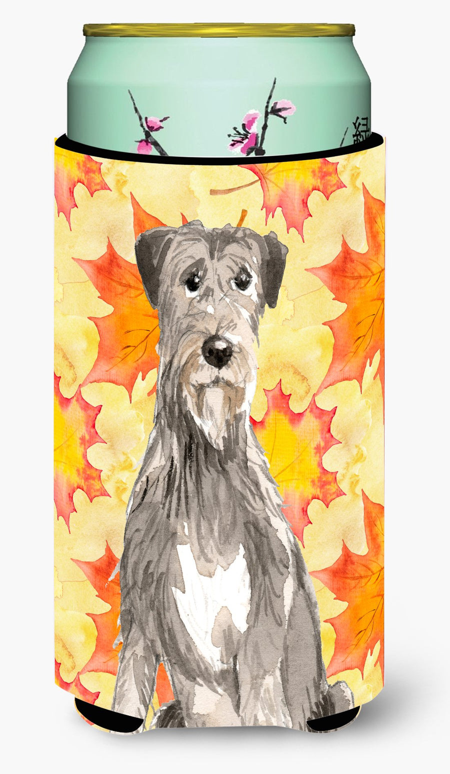Buy this Fall Leaves Irish Wolfhound Tall Boy Beverage Insulator Hugger CK1839TBC