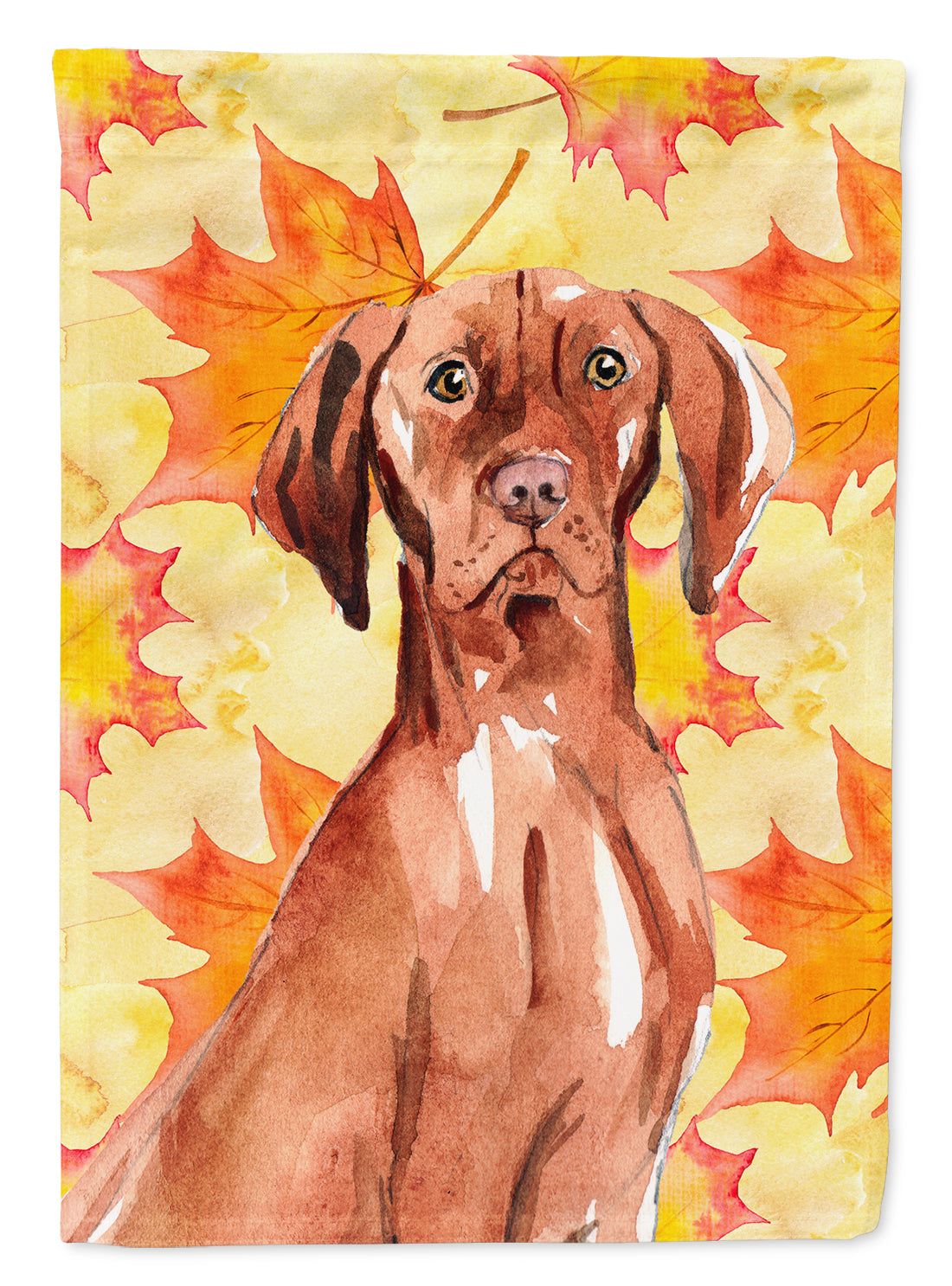 Fall Leaves Vizsla Flag Canvas House Size CK1840CHF by Caroline's Treasures