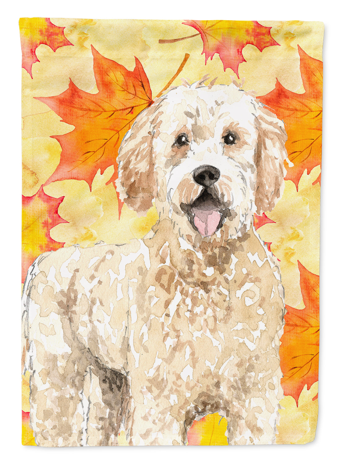 Fall Leaves Goldendoodle Flag Canvas House Size CK1842CHF by Caroline's Treasures