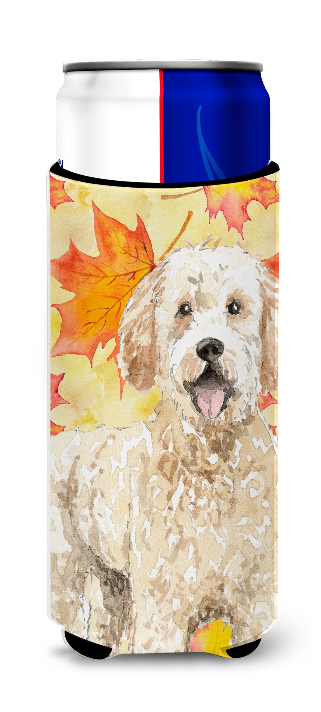 Fall Leaves Goldendoodle Michelob Ultra Hugger for slim cans CK1842MUK by Caroline's Treasures
