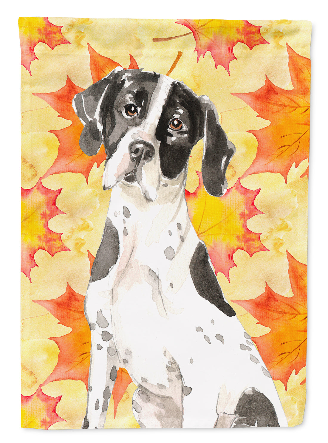 Fall Leaves English Pointer Flag Canvas House Size CK1843CHF by Caroline's Treasures