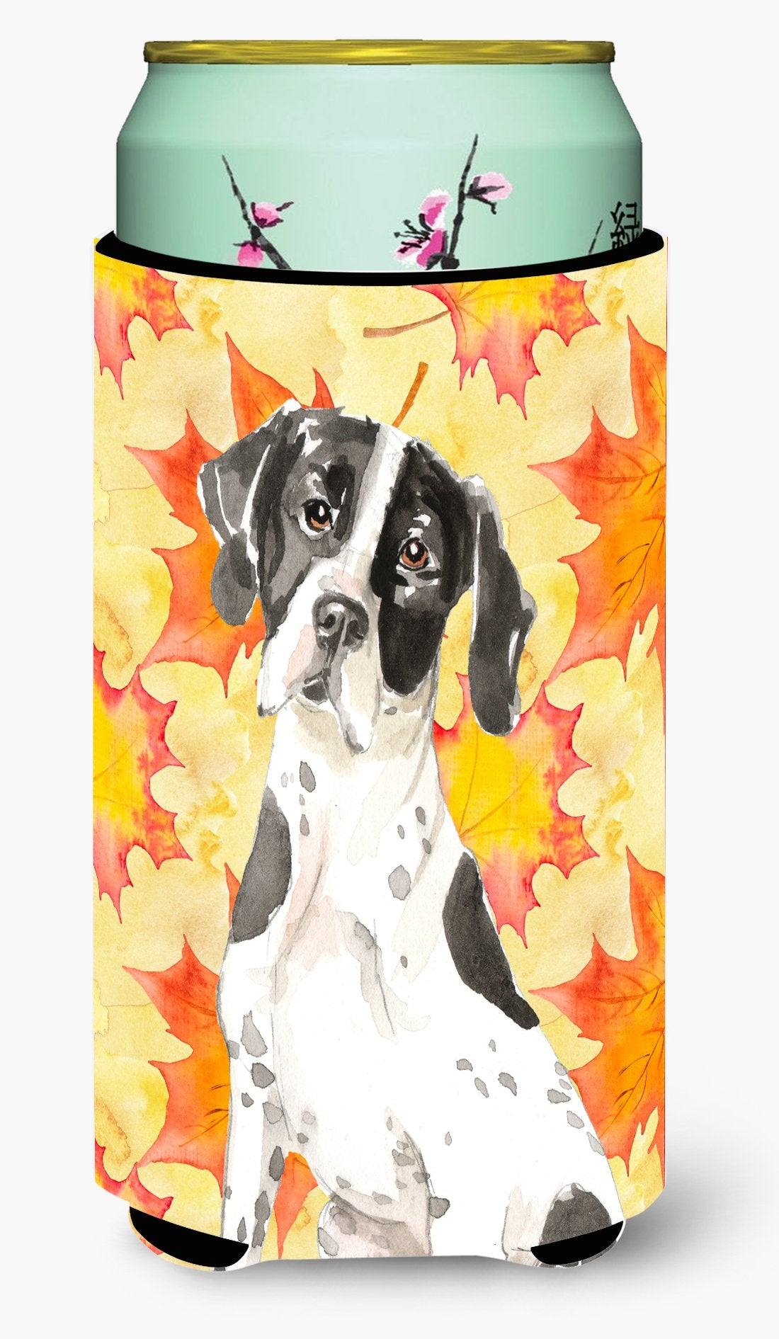 Fall Leaves English Pointer Tall Boy Beverage Insulator Hugger CK1843TBC by Caroline's Treasures