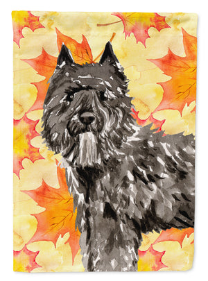 Buy this Fall Leaves Bouvier des Flandres Flag Canvas House Size CK1848CHF