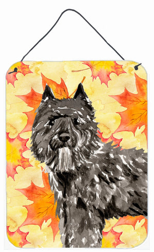 Buy this Fall Leaves Bouvier des Flandres Wall or Door Hanging Prints CK1848DS1216