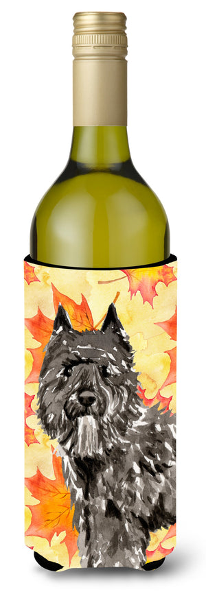 Buy this Fall Leaves Bouvier des Flandres Wine Bottle Beverge Insulator Hugger CK1848LITERK