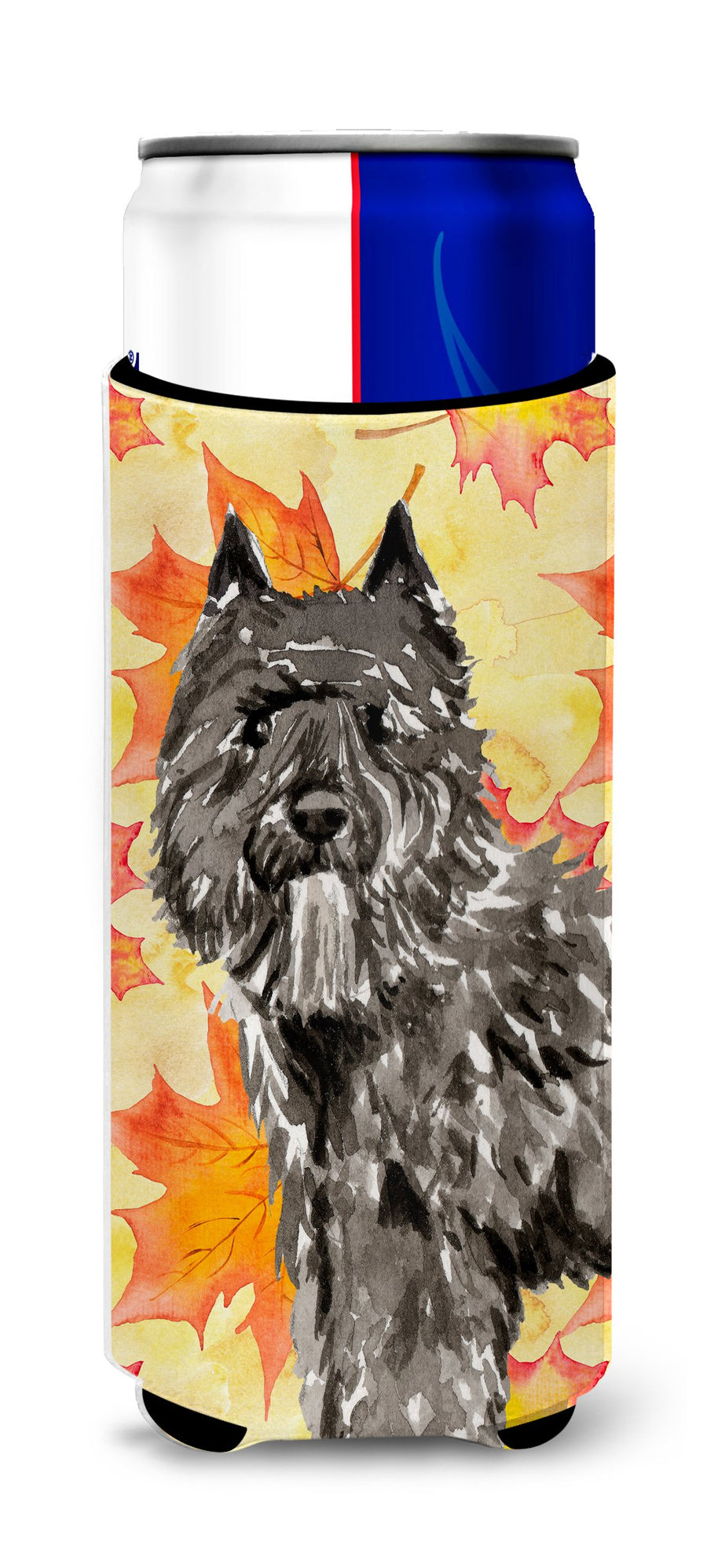 Buy this Fall Leaves Bouvier des Flandres Michelob Ultra Hugger for slim cans CK1848MUK