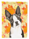 Fall Leaves Boston Terrier Flag Garden Size CK1849GF by Caroline's Treasures