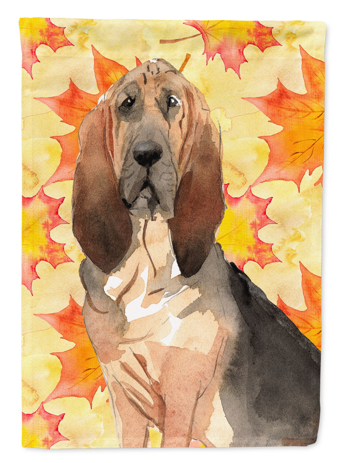 Fall Leaves Bloodhound Flag Canvas House Size CK1850CHF by Caroline's Treasures