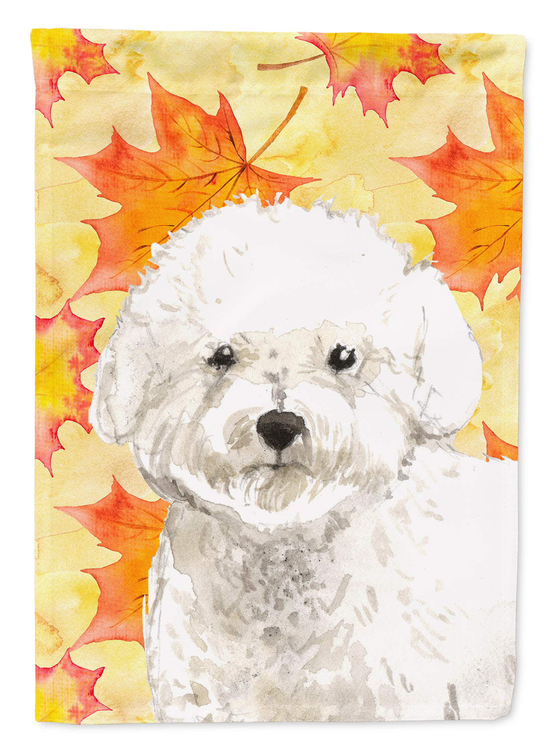 Fall Leaves Bichon Frise Flag Canvas House Size CK1851CHF by Caroline's Treasures