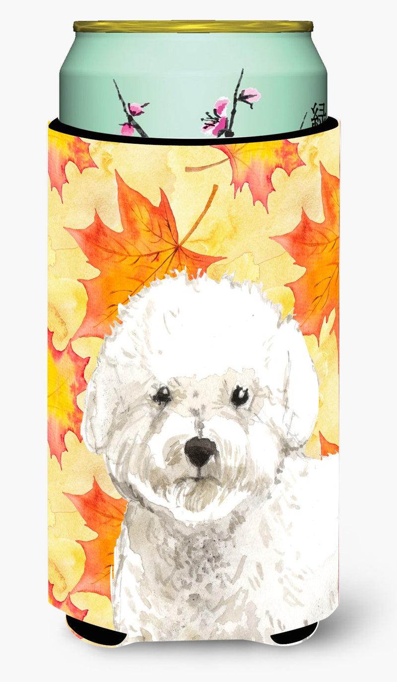 Buy this Fall Leaves Bichon Frise Tall Boy Beverage Insulator Hugger CK1851TBC