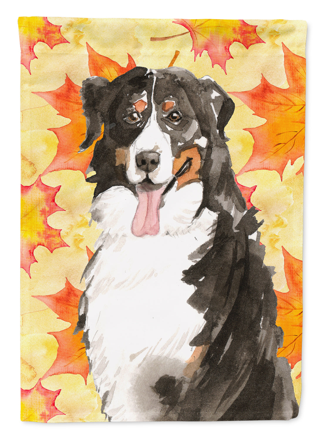 Fall Leaves Bernese Mountain Dog Flag Canvas House Size CK1852CHF by Caroline's Treasures