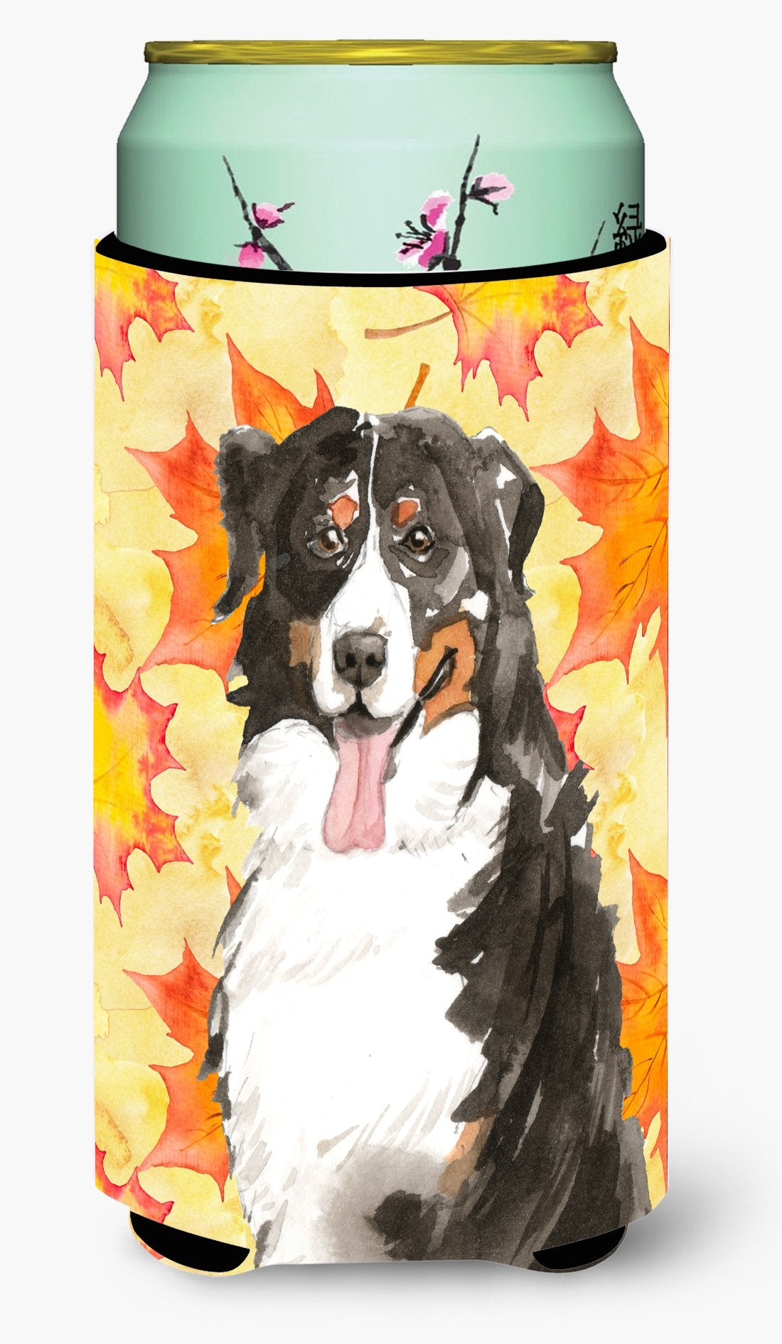 Fall Leaves Bernese Mountain Dog Tall Boy Beverage Insulator Hugger CK1852TBC by Caroline's Treasures