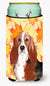 Buy this Fall Leaves Basset Hound Tall Boy Beverage Insulator Hugger CK1853TBC
