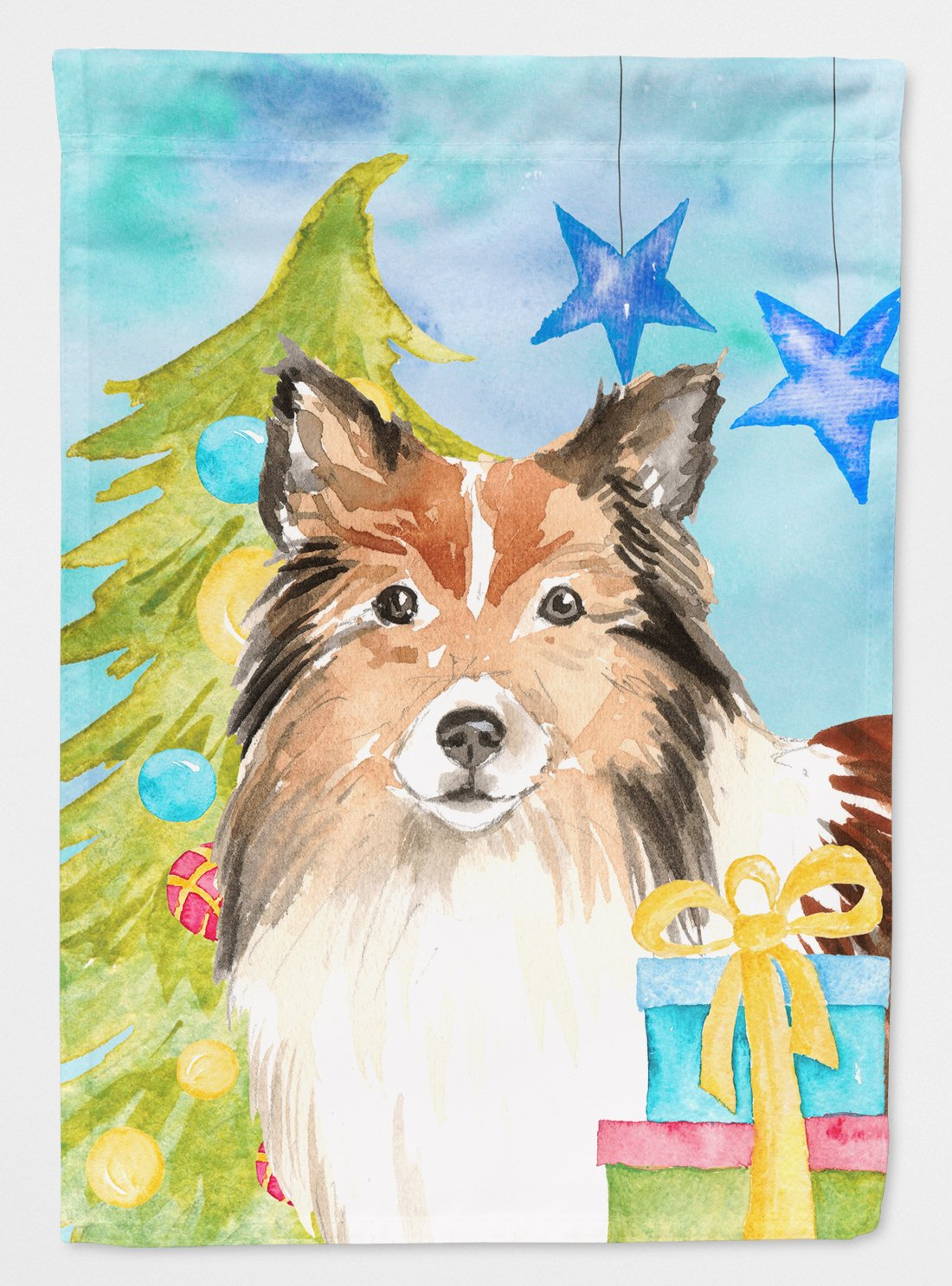 Buy this Christmas Tree Sheltie Flag Garden Size CK1864GF