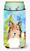 Christmas Tree Sheltie Tall Boy Beverage Insulator Hugger CK1864TBC by Caroline's Treasures